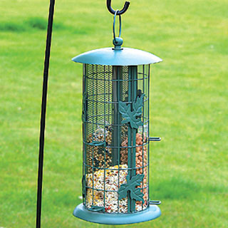 3 separate seed tubes bird feeder
