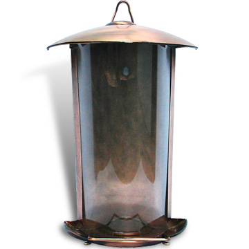 Bronze bird feeder