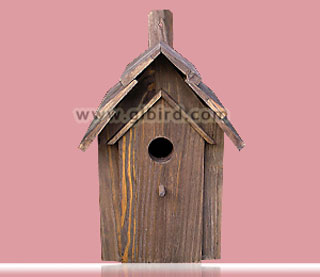 Rustic wood bird house